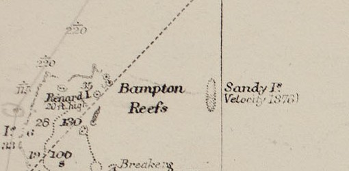 Sandy_Island_on_1908_chart_-_cropped