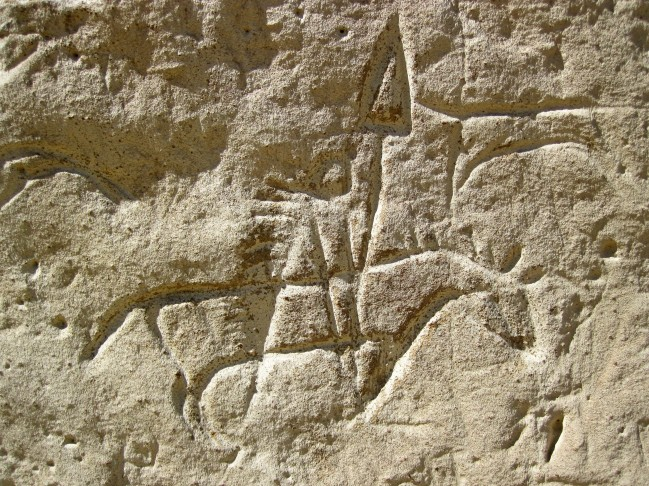 Ancestral_Shoshone_Indian_petroglyph_(~1000_to_~200_years_old)_(White_Mountain_Petroglyphs,_southwestern_Wyoming,_USA)_6_(22851696862)